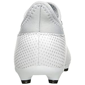 adidas Performance Boys' X 17.3 FG J Soccer Shoe, White/Energy Blue/Clear Grey, 1.5 Medium US Little Kid