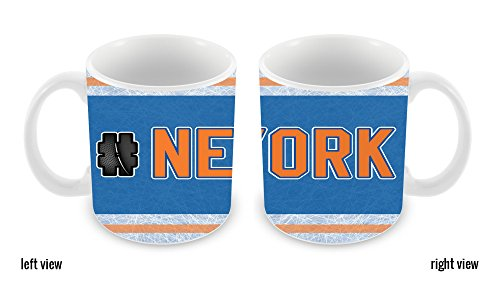 BleuReign(TM) Hockey Team Hashtag New York Orange #NewYork 11oz Coffee Mug