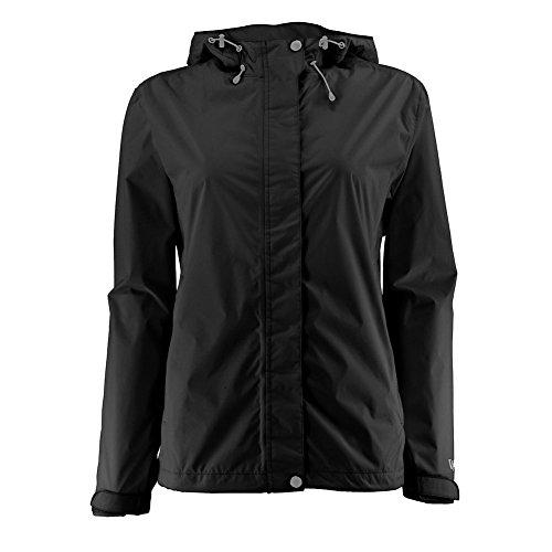 (White Sierra Women's Trabagon Rain Shell - Extended Size, Black, 2X)