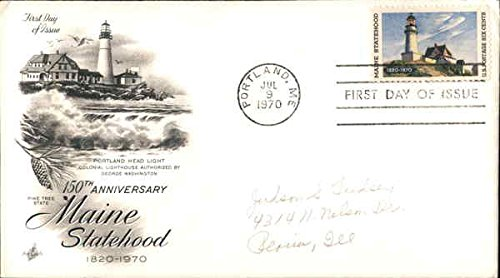 150th Anniversary Maine Statehood 1820-1970 Original First Day Cover - 1820 Original Antique