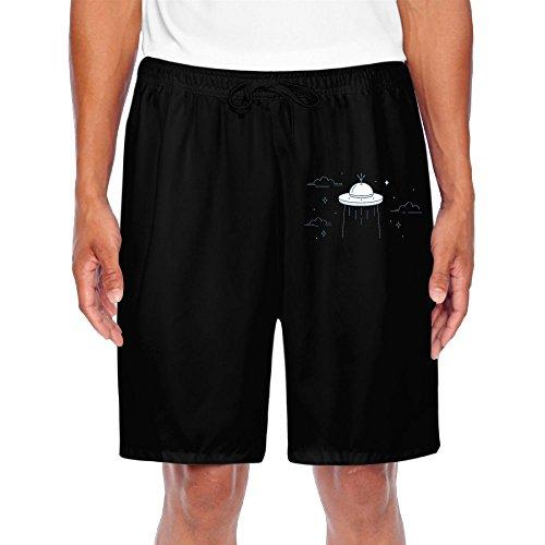 (Agilitynoun Men's Shorts UFO Cartoon Sweatpants Drawstring Athletic Basic)