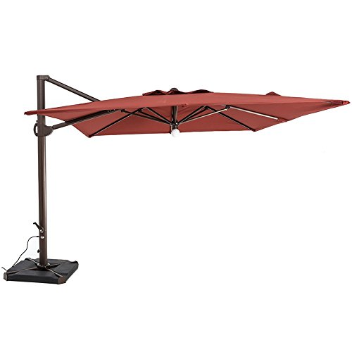 Cantilever Hanging Umbrella Sun Shade | Henna | 10'x10 ft...