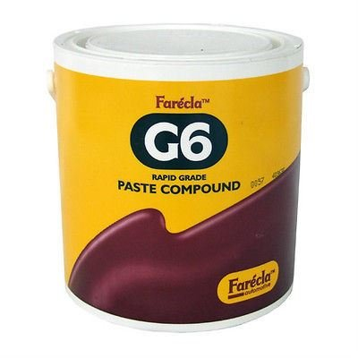Farecla G6 Compound Paste Rapid Grade 3kg Tub Silicone Free Brand New For Use On Original & Refinish Medium Solid & Air Dried 2k Paint Systems