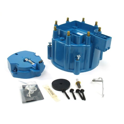 Distributor Blue Cap - Pertronix D4002 Flame-Thrower Blue HEI Distributor Cap and Rotor Kit