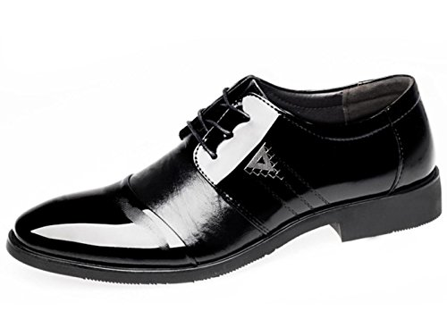 CSDM Grande promozione Uomini Casual Scarpe da cuoio Pochette con punta in pizzo Scarpe traspiranti in gomma Bottom , black , 43
