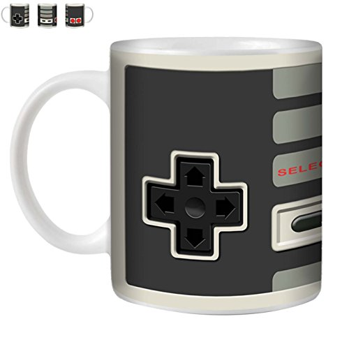 STUFF4 Tea/Coffee Mug/Cup 350ml/Nintendo Classic/Games Console/White Ceramic/ST10
