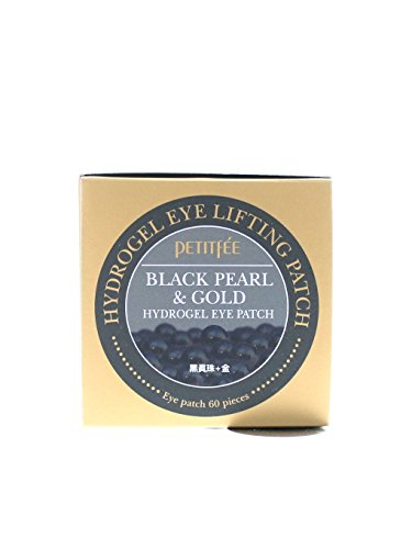 Petitfee Black Pearl and Gold Hydrogel Eye Patch, 60 Sheet