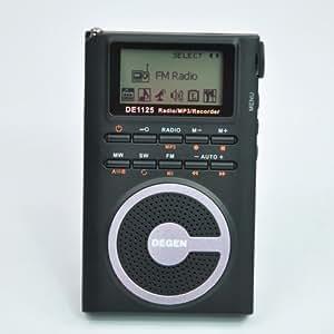 2nd generation Degen DE1125 Ultra-Thin AM/FM/SW Radio with 4GB MP3 Player/Digital Recorder