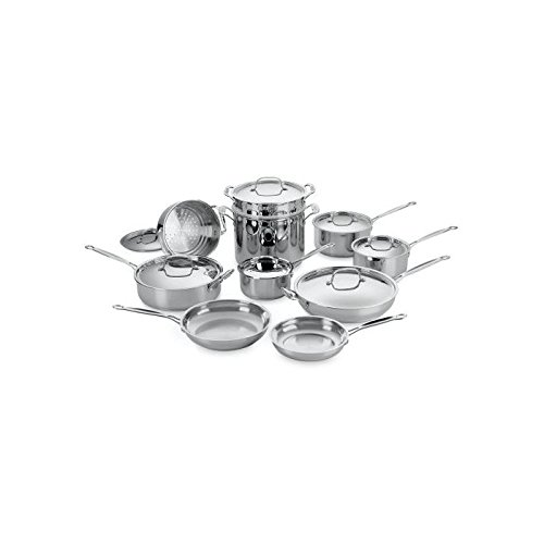 Cuisinart Chef's Classic Stainless Steel 17-Piece Cookware S