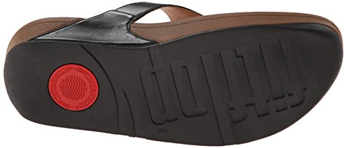 Fitflop The Tm Sandals Flop Flip Leather Skinny Black Women's HHrdqE
