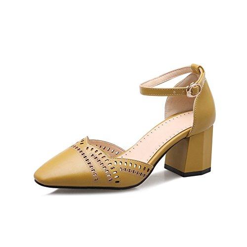 Giallo 35 Zeppa DIU01071 Donna Yellow Sandali EU con AN Tw7Xq1px7
