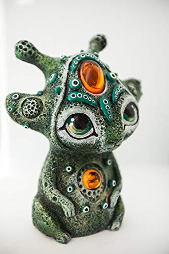 - Topaz. Dungeon Keeper. Moon CryptoBunnies. Fairy Garden Figurines Art Sculptures Statues Handmade Indoor Decorative