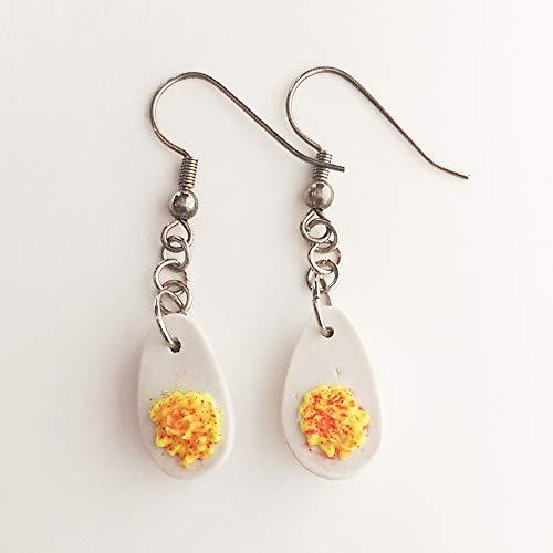 Deviled Eggs Earrings Faux Food Jewelry Halloween Costume Kawaii