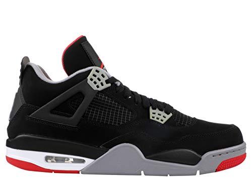 Jordan 4 Retro Bred 2019 Mens (10 M - Authentic Air Sneakers Jordan