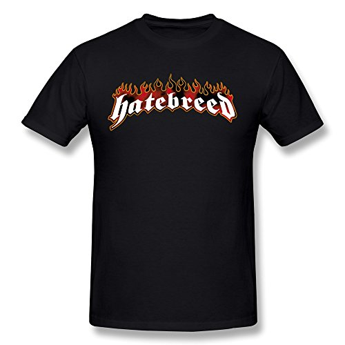 Ptshirt.com-19154-CXY Men\'s Hatebreed Band Logo T-Shirt Black-B017AYY12Q-T Shirt Design