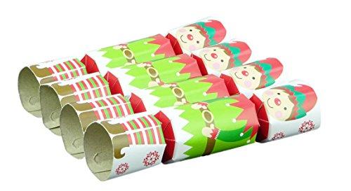 Mini Elf Hat (Toyland Pack of 8 - 13cm Mini Elf Christmas Crackers)