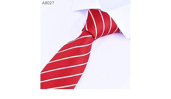 LFLJIE Hombres Corbatas Corbata 8cm Clásica Boda de Negocios ...