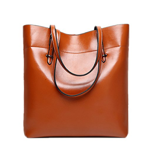 Vintage Leather Shoulder Pu Bag Bag Capacity Brown Large Women Big Tote Sw4qxESr
