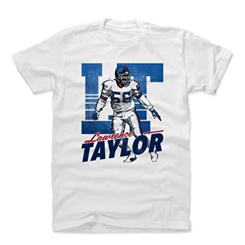 500 LEVEL Lawrence Taylor Cotton Shirt (Large, White) - New York Giants Men's Apparel - Lawrence Taylor Retro B ()