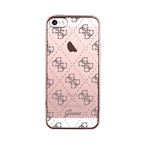 Guess Handyhülle Apple iPhone 5/5S/SE - 4G Collection gold Schutzhülle Case Cover Etui Schale Hülle