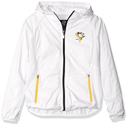 NHL Damen Spring Training Leichtes Full Zip Jacke, Damen, G34Her Spring Training Light Weight Jacket, weiß, Large