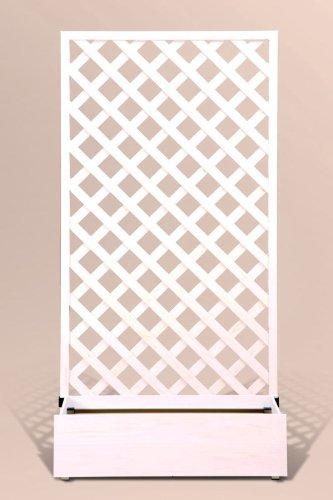 プランタボックス付ウッディープラフェンス 幅90センチx高さ180センチ  ホワイト色 B006VT8ZS8 20902