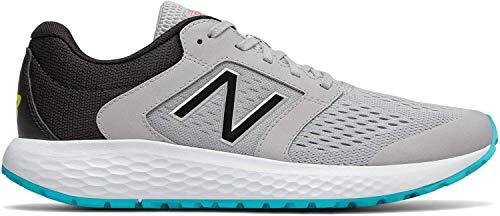 New Balance Men's 520v5 Cushioning Running Shoe, Grey/Blue/Silver, 8.5 D US