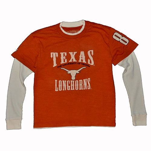 Colosseum Texas Longhorns Youth Double-layer Thermal L/s Tee Youth - XL (20)