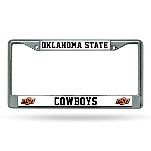Rico Oklahoma State Cowboys Chrome Metal License Plate Frame