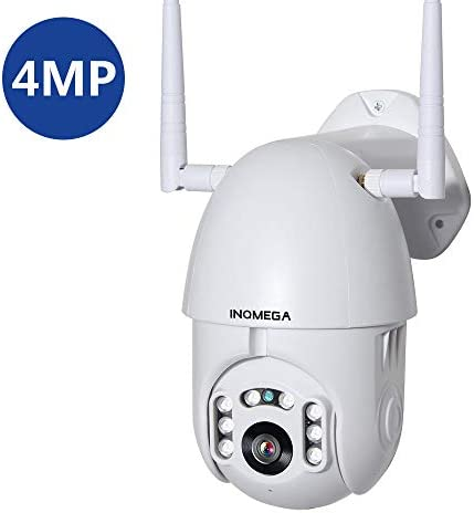 INQMEGA 4MP Outdoor PTZ WiFi Security Camera, Pan Tilt Zoom 4.1X Digital Surveillance IP Waterproof Camera with Two Way Audio Night Vision Motion Detection PTZ Camera
