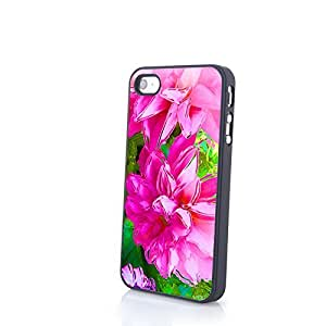 Generic Charming Beautiful Flowery Flowers Matte Pattern PC Phone Cases fit for Cute Colorful iPhone 4/4S Cases