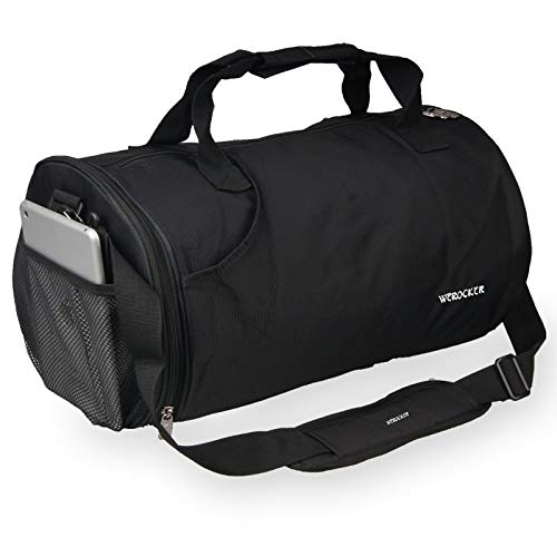 nbsp;fitness Per Sport Bag Grande Messenger Portatile Allenamento Bag Uomo Wuyiba Tracolla Da Borsa Piccola A Viaggio Capacità Nero Bagnato Blu Di Separazione Cilindro Secco E cpZcyvqIHX