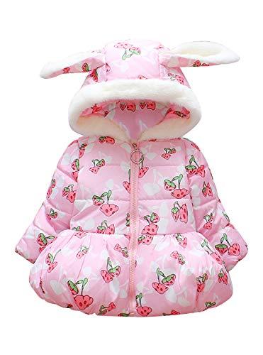 Rebavl Baby Girls Mushroom Hoodies Jacket Toddler Kids Long Sleeve Winter Outerwear Warm Coat ()