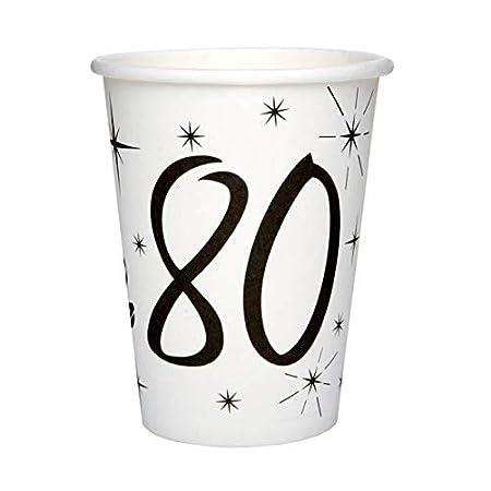 Chal - 20 vasos de cumpleaños 80 años: Amazon.es: Hogar