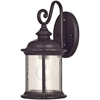 Westinghouse 6230600  New Haven One-Light Exterior Wall Lantern  on Steel with Clear Seeded Glass,  Oil Rubbed Bronze Finish