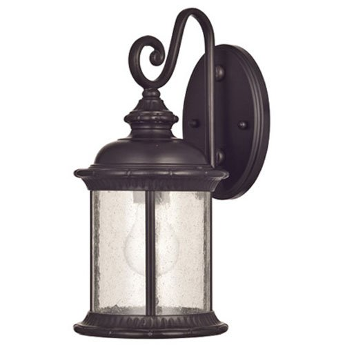 Westinghouse 6230600  New Haven One-Light Exterior Wall Lantern  on Steel with Clear Seeded Glass,  Oil Rubbed Bronze (Outdoor Lantern Lights)
