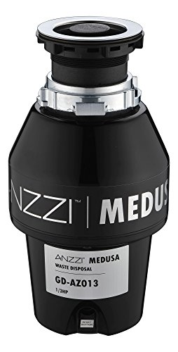 1/3 HP Garbage Disposal - Black - Medusa Series GD-AZ013 - ANZZI by ANZZI