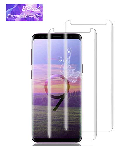 LEDitBe For Samsung Galaxy S9 Screen Protector, [2 Pack][3D Curved Tempered Glass] [Case Friendly] [Full Coverage][Anti-scratch][Bubble-Free] Screen protector Film for Samsung Galaxy S9[Clear]