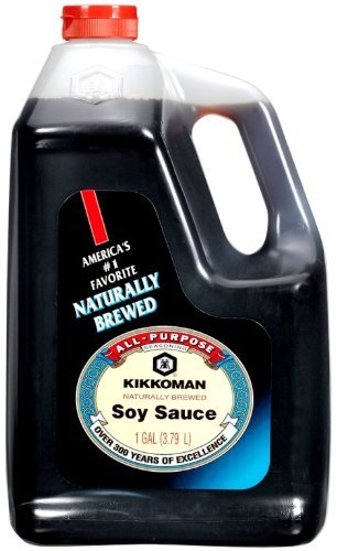 Kikkoman Soy Sauce, 128-Ounce (1 Gallon) Bottle