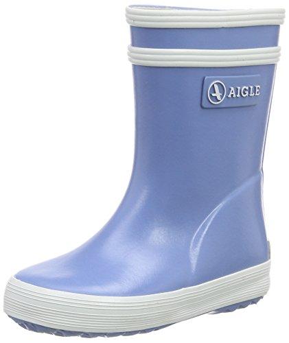 AigleBaby Flac Gummistiefel - botas de goma sin forro con caña media Niños-Niñas Azul (Baby Flac)