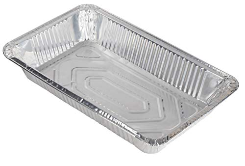 Aluminum Foil Pans - 30-Piece Full-Size Deep Chafing Pans, Disposable Steam Table Pans for Baking, Serving, Roasting, Broiling, Cooking, 20.5 x 3.3 x 13 Inches