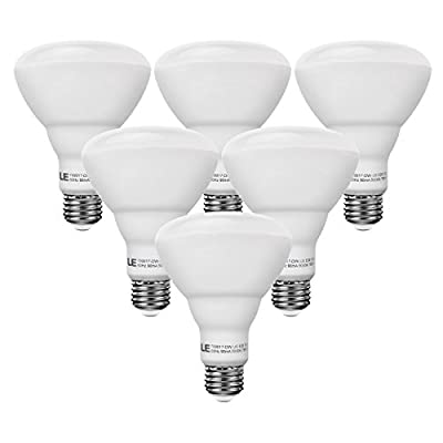 LE 10W BR30 E26 LED Bulbs, 65W Incandescent Equivalent, 750lm, Daylight White, 5000K, 110° Flood Beam, Not Dimmable, Track and Recessed Light Bulbs, LED Light Bulbs, Pack of 6 Units