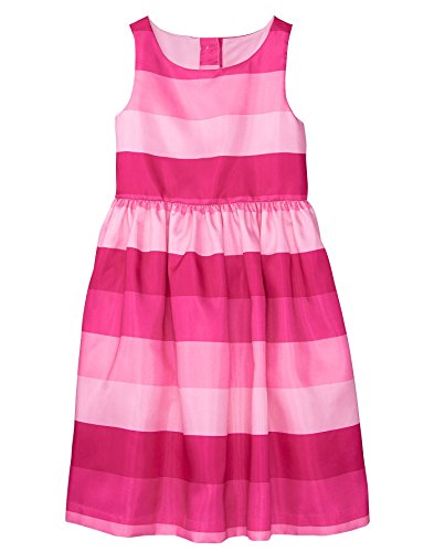 Girls Dress Gymboree - Gymboree Girls' Little Sleeveless Striped Dress, Bright Rose, 4