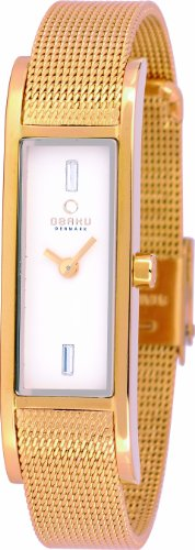 Obaku -V159lxgimg Ladies Ion Plated Gold Mesh Watch