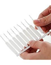 Maxten 10 peças de mini escova de limpeza de chuveiro, escova multifuncional de limpeza de bocal de chuveiro, escovas antientupimento de tubo de nylon para limpeza doméstica/furo/cabeça de chuveiro/orifício de celular