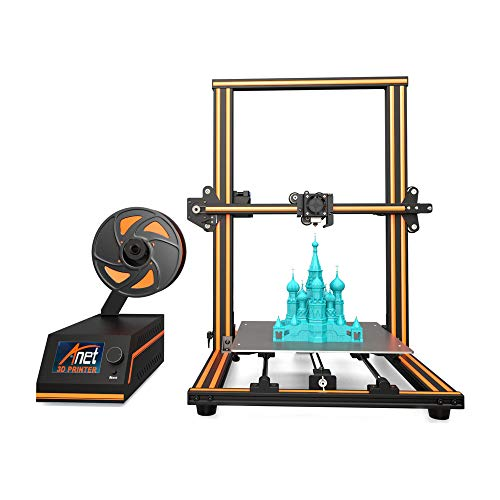 - 【Upgraded】3D Printer, Enow XY Axis Semi-Assembled Metal Frame Structure 5-Step DIY Kit with Filament Sensor, Assembled Nozzle Heat Bed, Pro Printing Large Print Size Base 300x300x400mm 110V US Plug