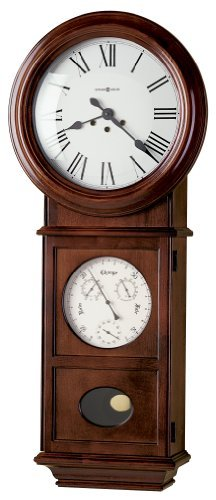 Howard Miller Lawyer II Wall Clock in Windsor Cherry - 620249