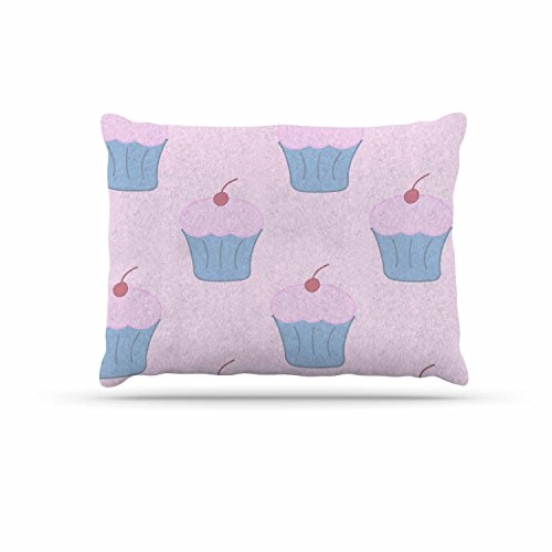 KESS InHouse NL Designs ''Pink Cupcakes'' Blue Blush Dog Bed, 30'' x 40'' by Kess InHouse
