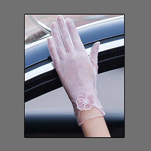 Coio 女性手袋 レディースUVカット レース 薄手日焼け防止 紫外線カット ブライダル手袋(スタイル4))