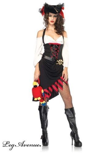 Leg Avenue Women's Saucy Wench Costume, Multi, Medium/Large -